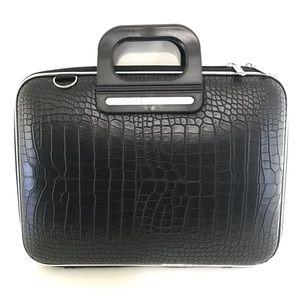 """Bombata Siena Cocco NWT  13"""" Laptop Case Black"""